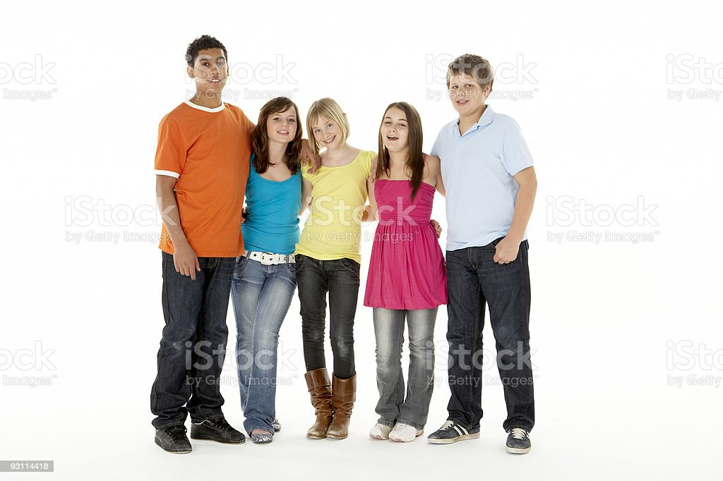 Group Of Five Young Children royalty-free stock photo