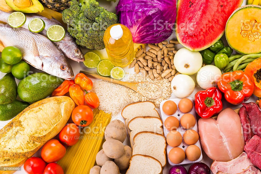 Group of Food stock photo