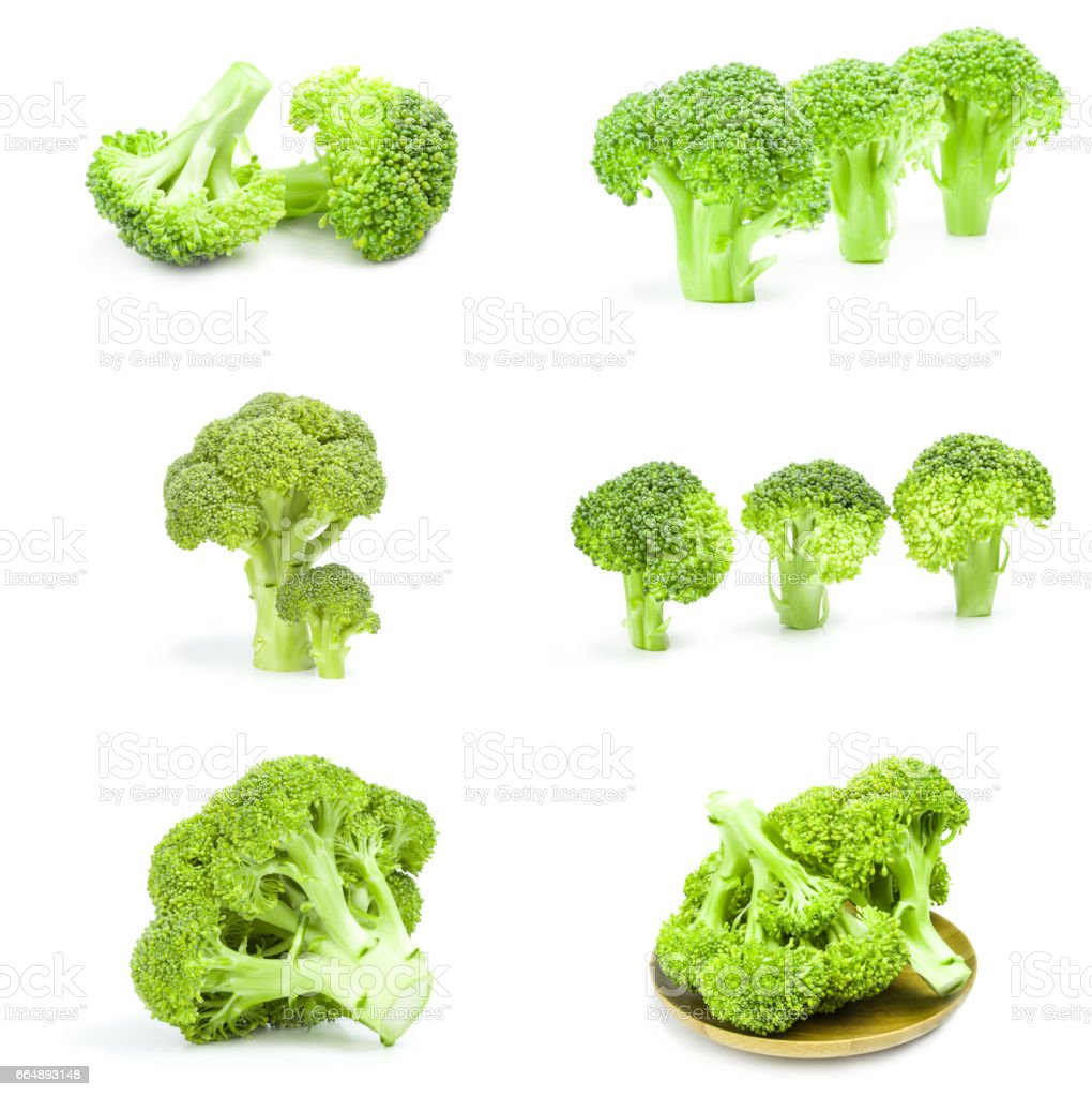 Group of fresh green broccoli on a background stock photo