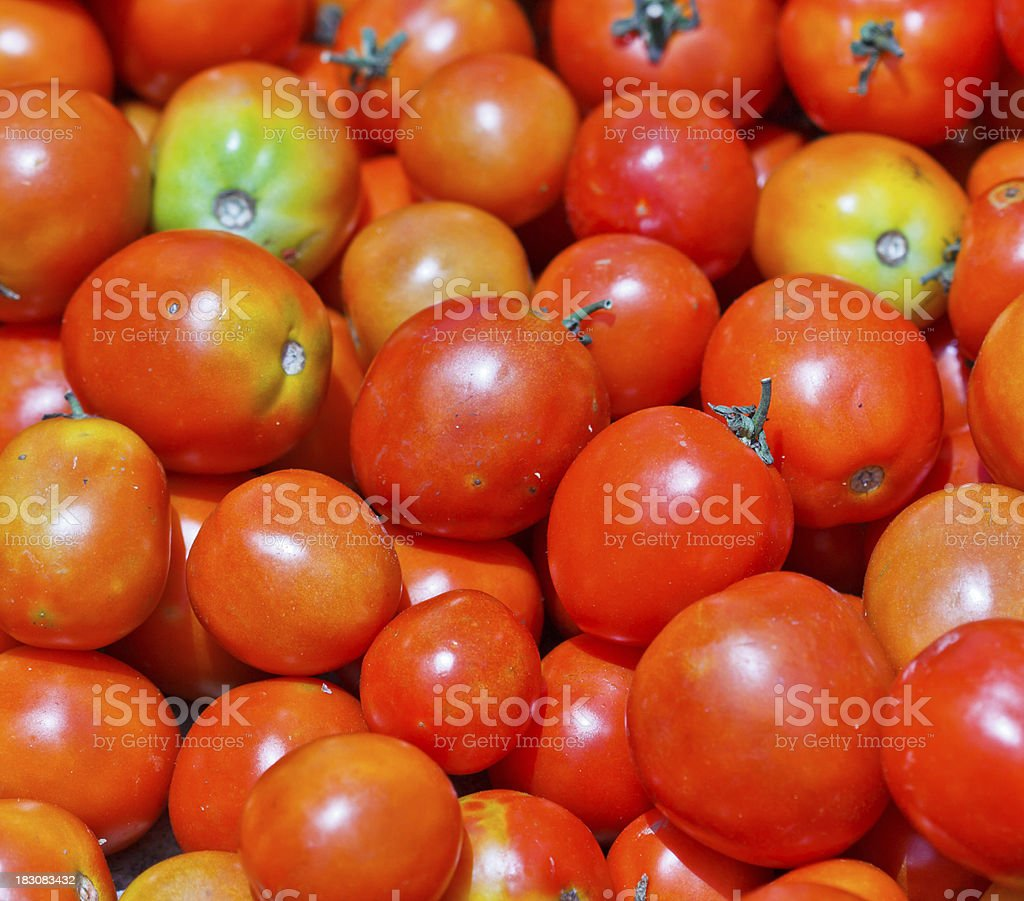 Group of fresh tomatoes royalty-free stock photo