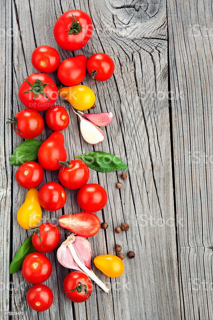 Group of fresh tomatoes stock photo