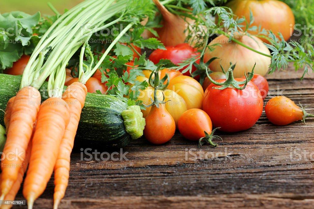 group of fresh vegetables stock photo