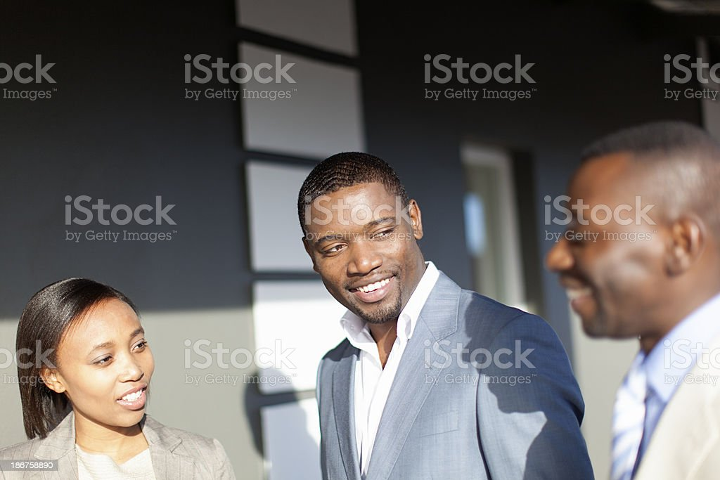 Group of friendly african business people royalty-free stock photo