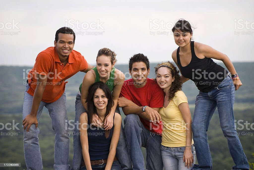 Group of friends 4 royalty-free stock photo