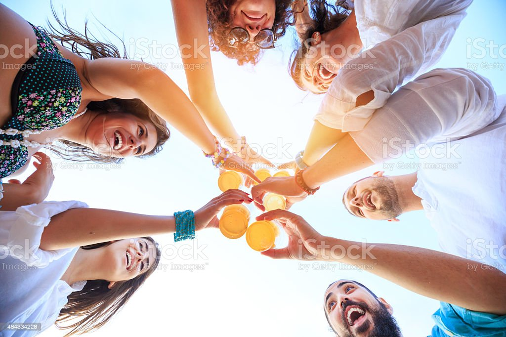 Group of Friends Cheers stock photo