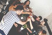 Group Of Friends Enjoying Drink