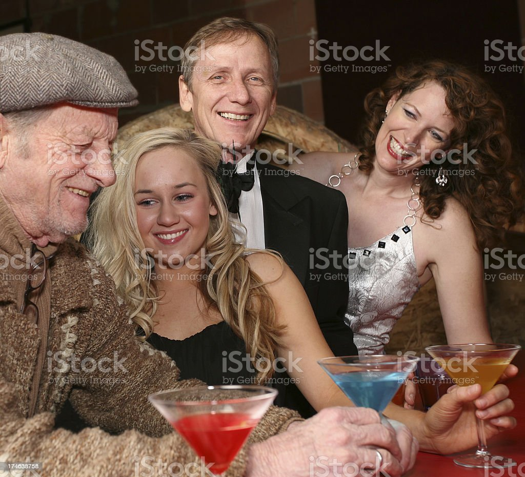 Group of Friends Having Drinks Together royalty-free stock photo