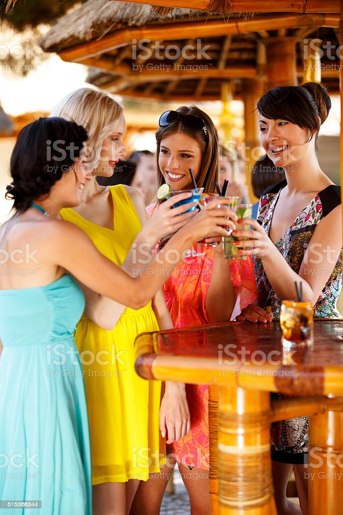 Group of friends having fun outdoor stock photo