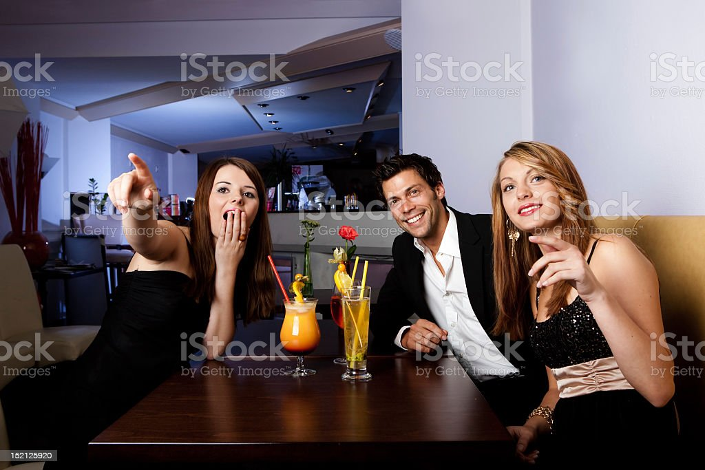 Group of friends having fun royalty-free stock photo