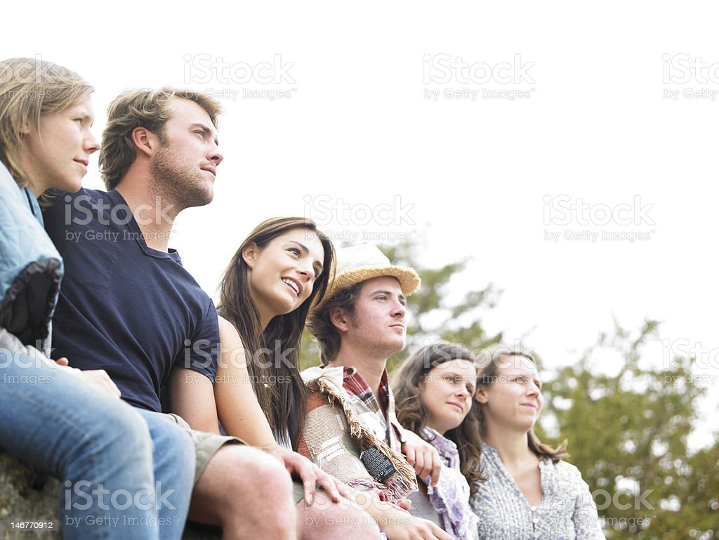 Group of Friends Outdoors royalty-free stock photo