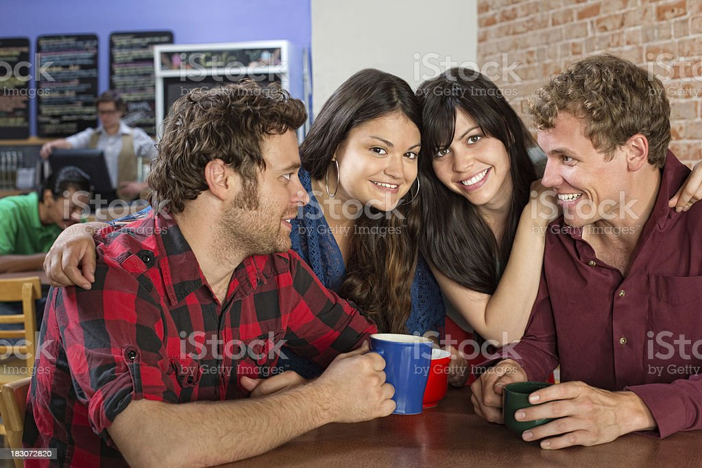 Group of Friends Sitting Together royalty-free stock photo