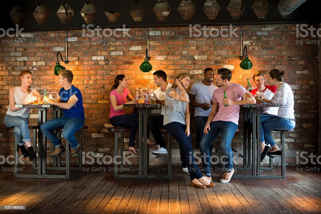 Group of Friends Socialising stock photo