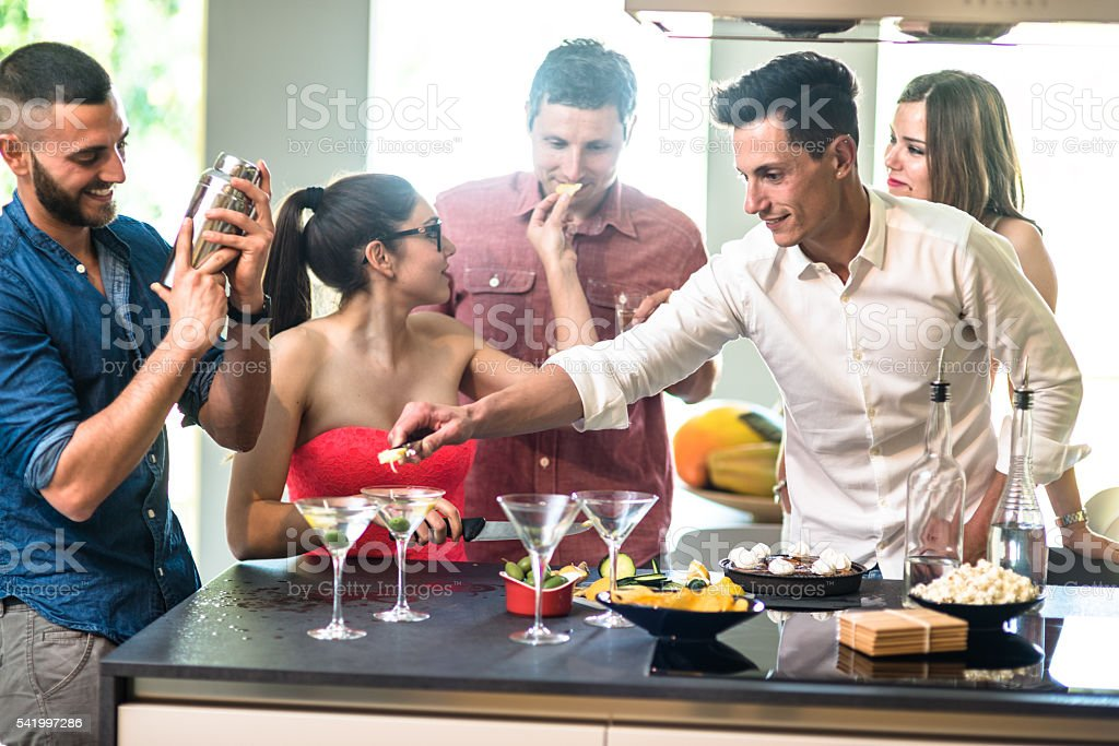 group of friends toasting with drinks stock photo