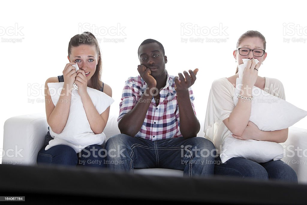 Group Of Friends Watching Emotional Movie royalty-free stock photo