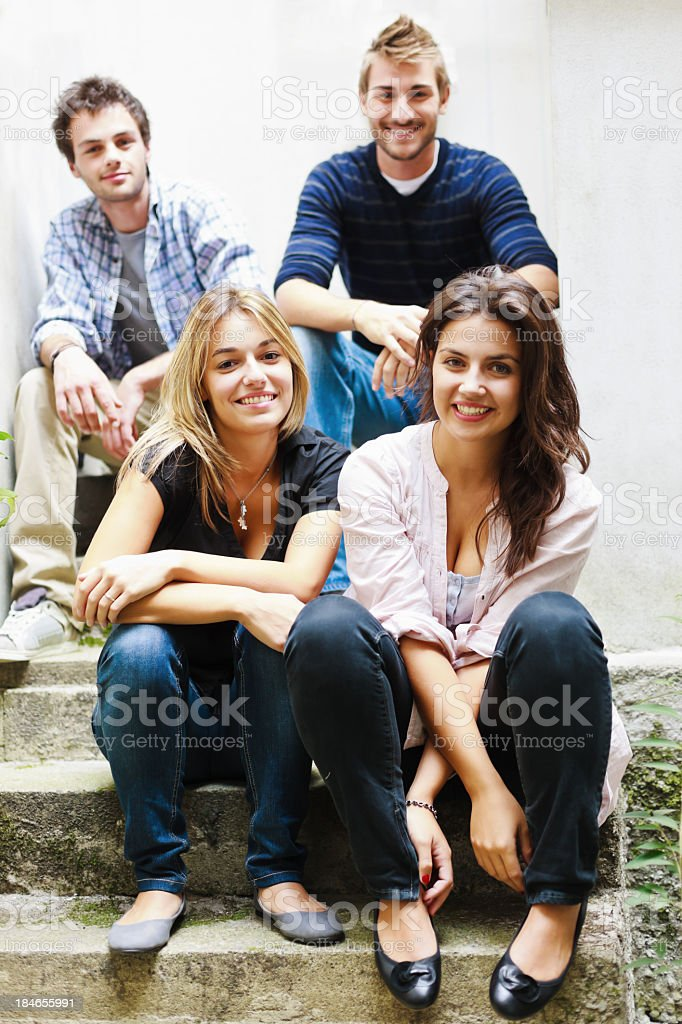 Group of Friends Young Adults royalty-free stock photo