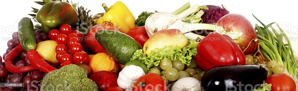 Group of fruit and vegetables. royalty-free stock photo