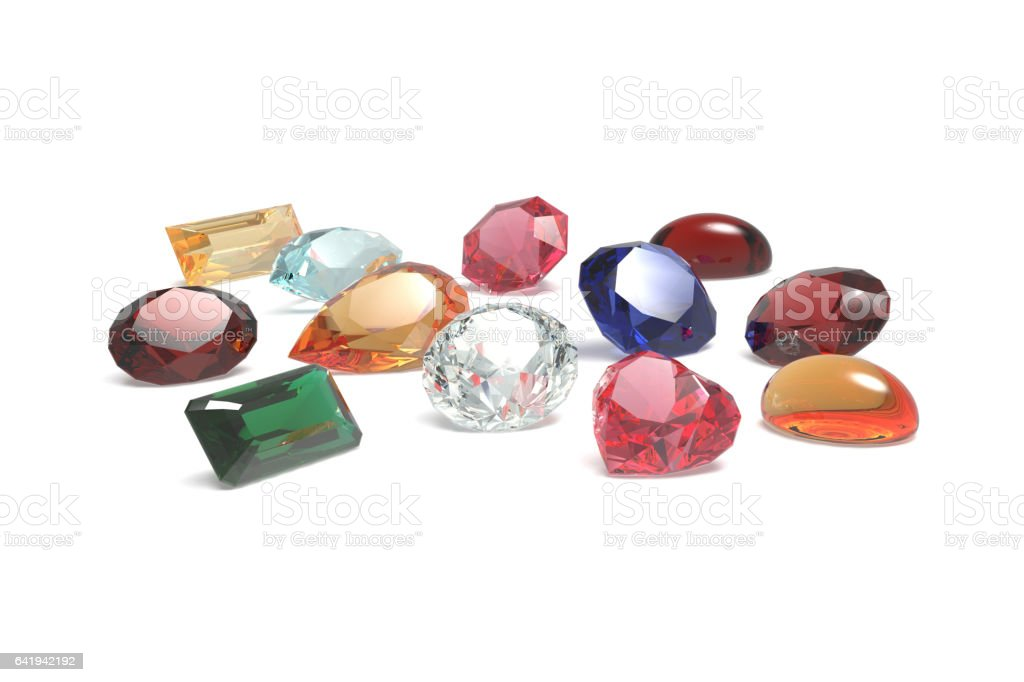 Group of Gems, Jewels stock photo
