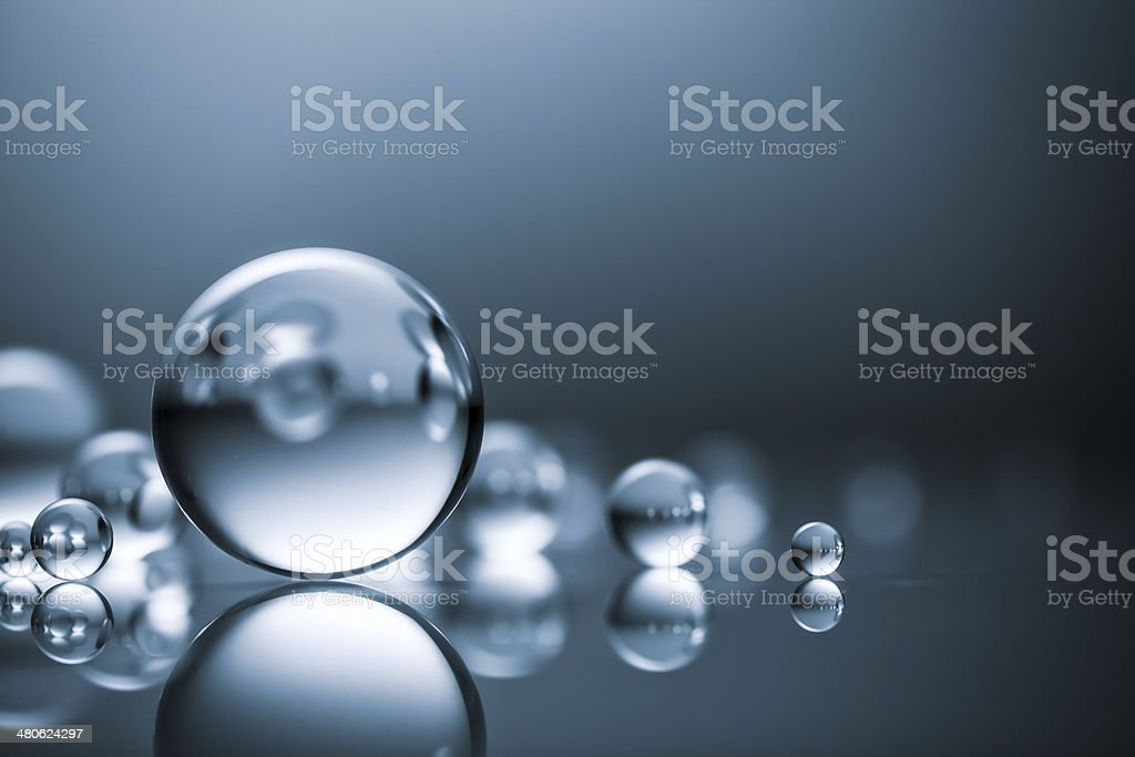 Group of glass balls stock photo