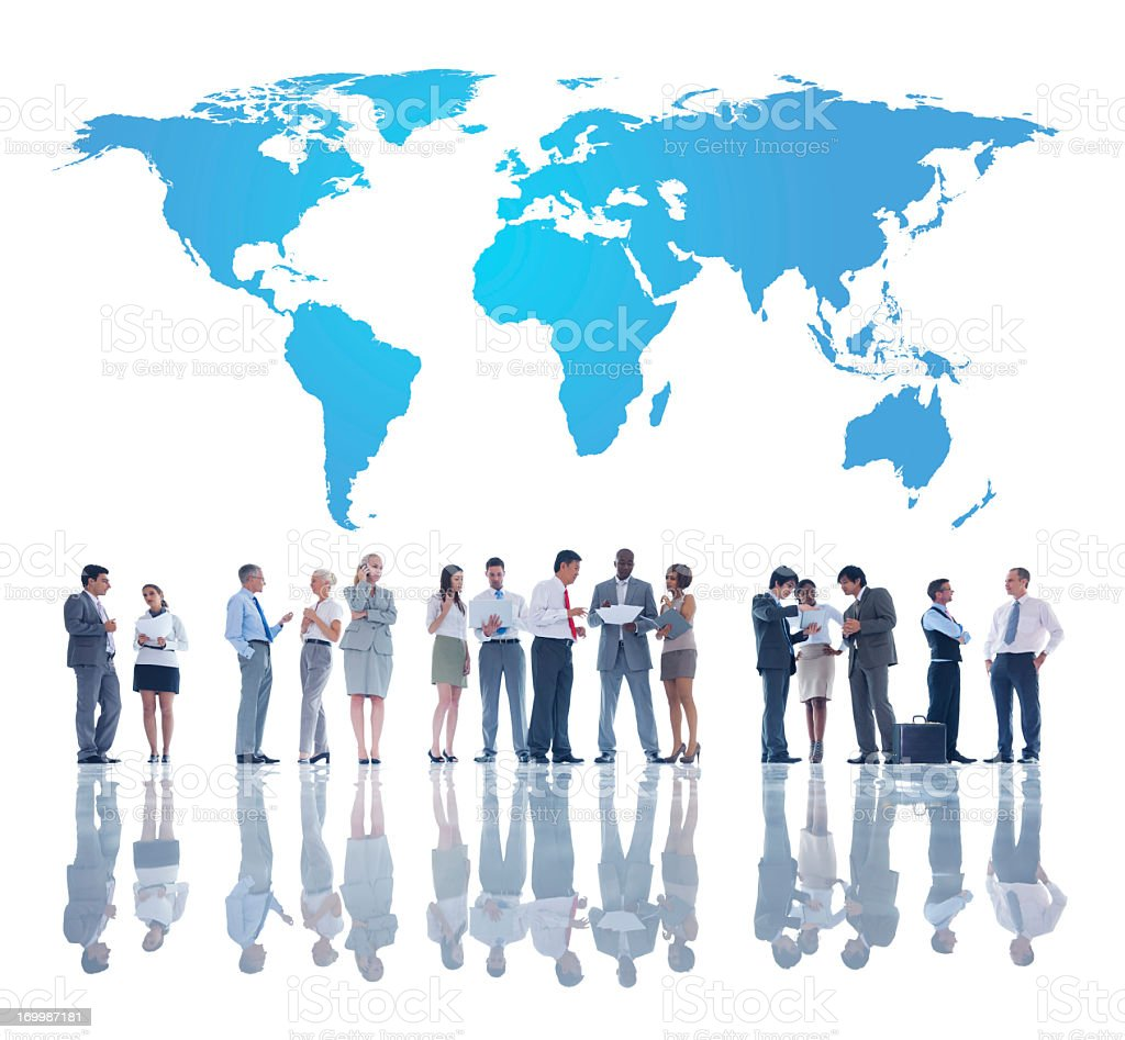 A group of global business team royalty-free stock photo