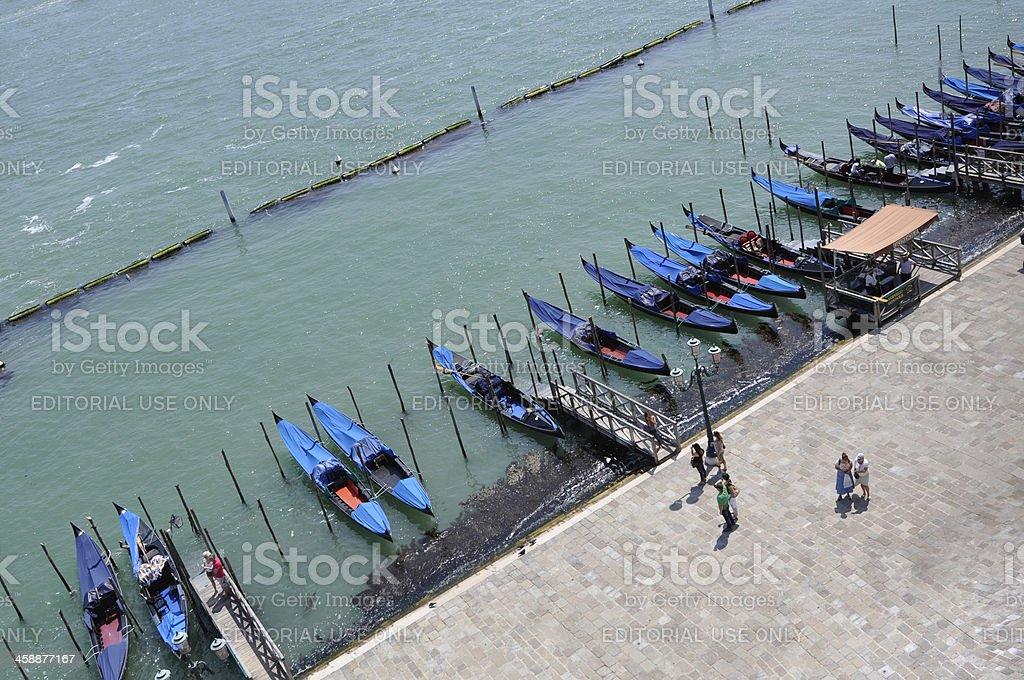Group of Gondola royalty-free stock photo