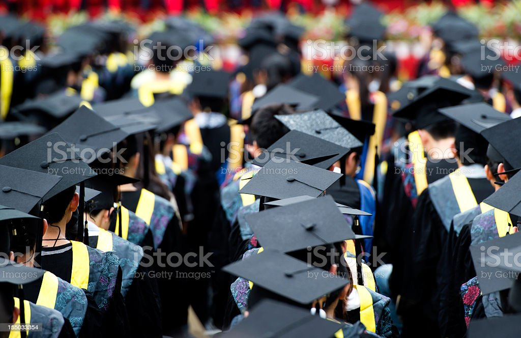 group of graduates stock photo