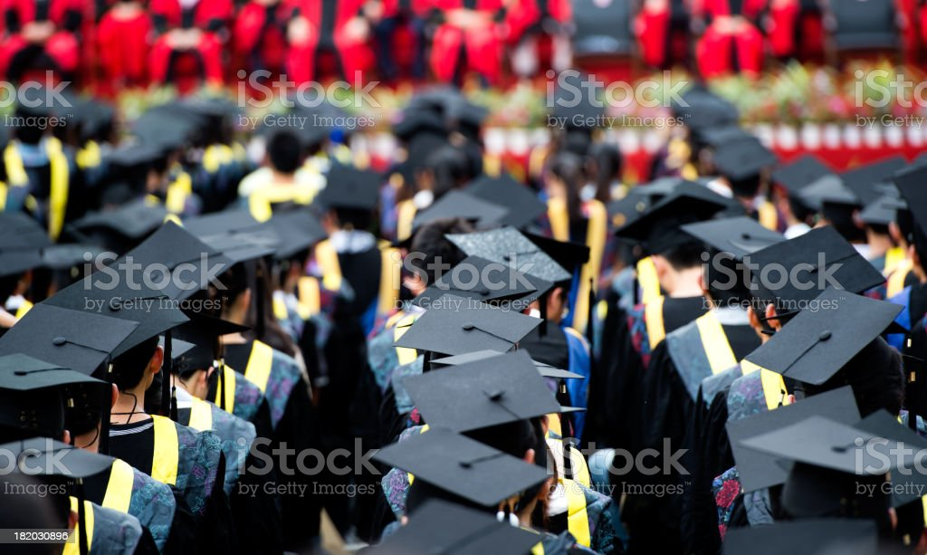 group of graduates royalty-free stock photo