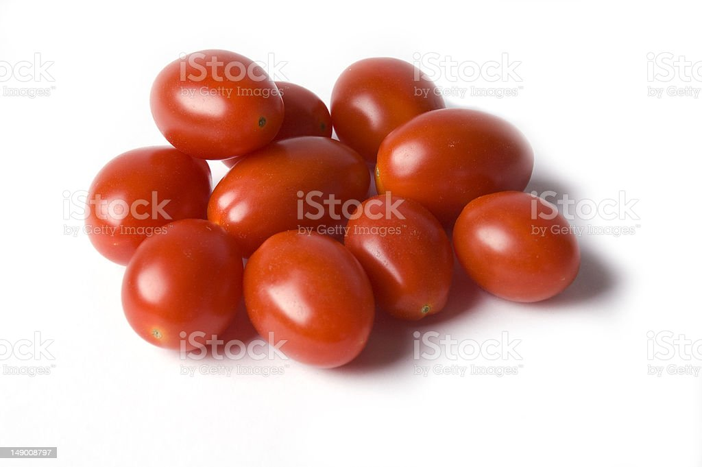Group of grape tomatoes stock photo