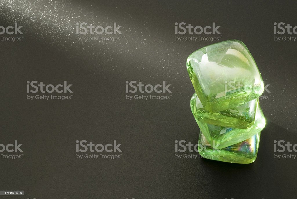 Group of green glasses royalty-free stock photo