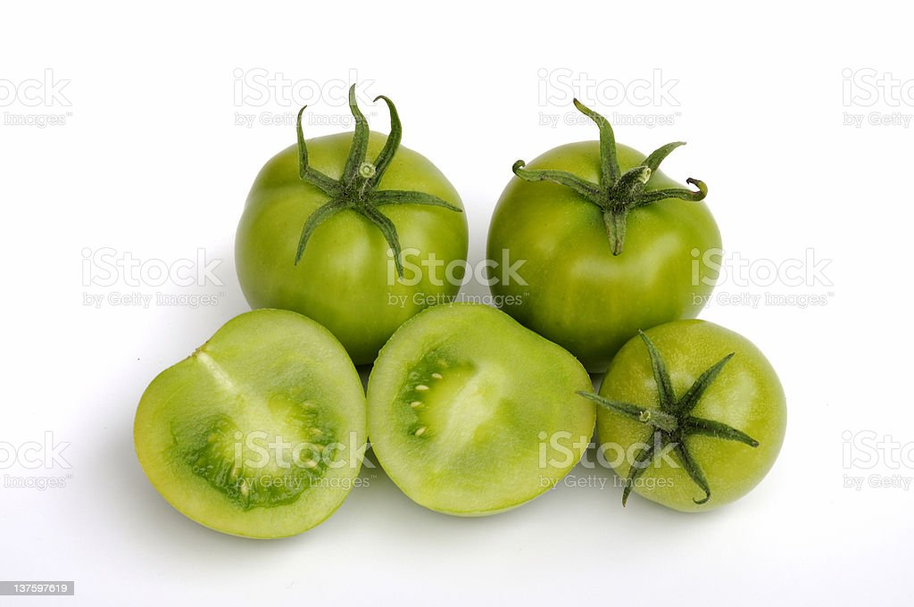 Group of Green Tomatoes stock photo
