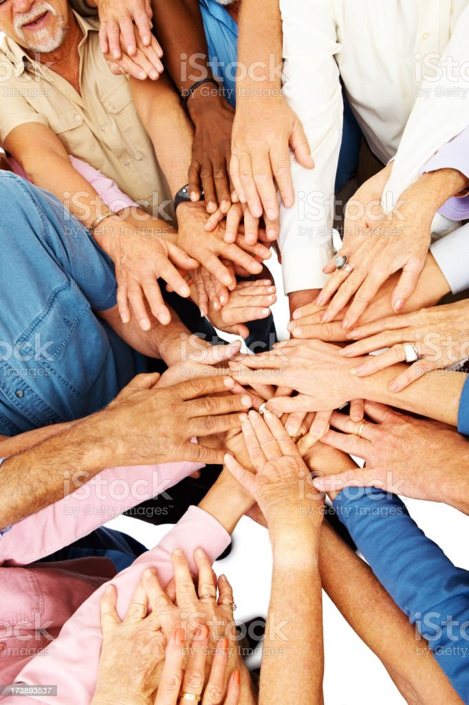 Group of hand showing unity and support to a cause  royalty-free stock photo