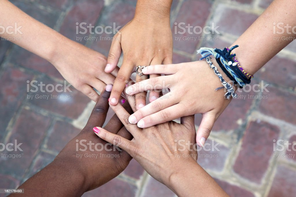 Group of Hands royalty-free stock photo