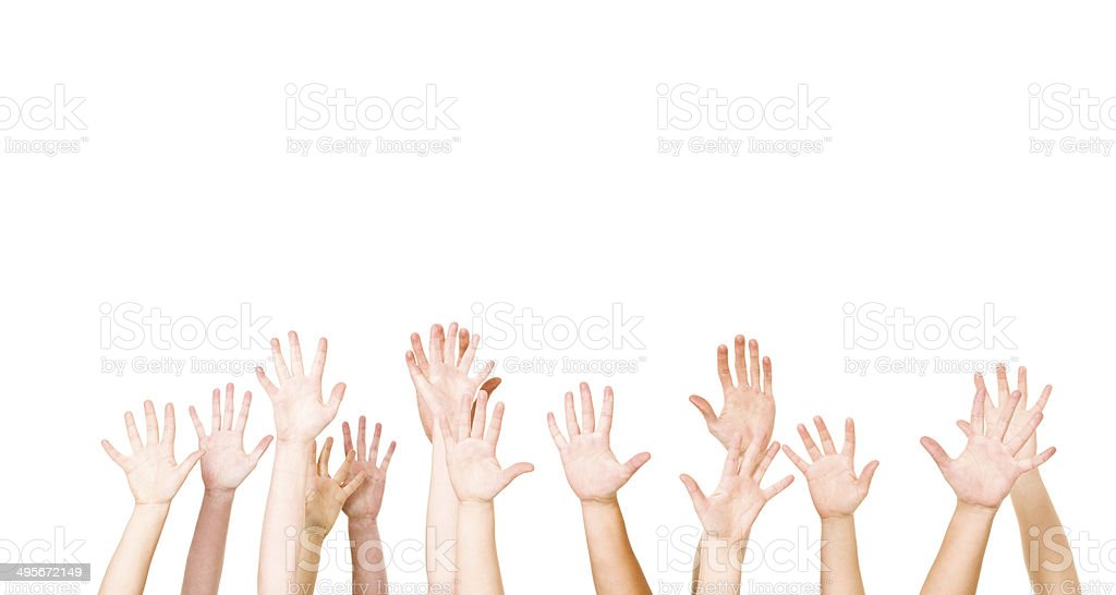 Group of Hands stock photo