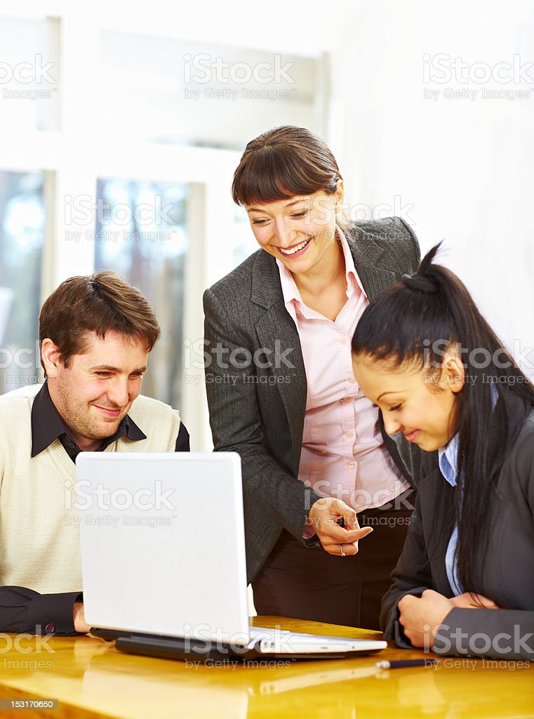 Group of happy business people royalty-free stock photo