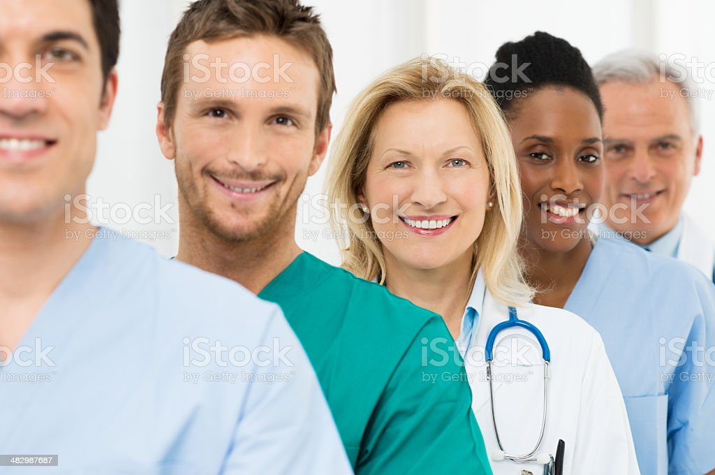 Group Of Happy Doctors stock photo