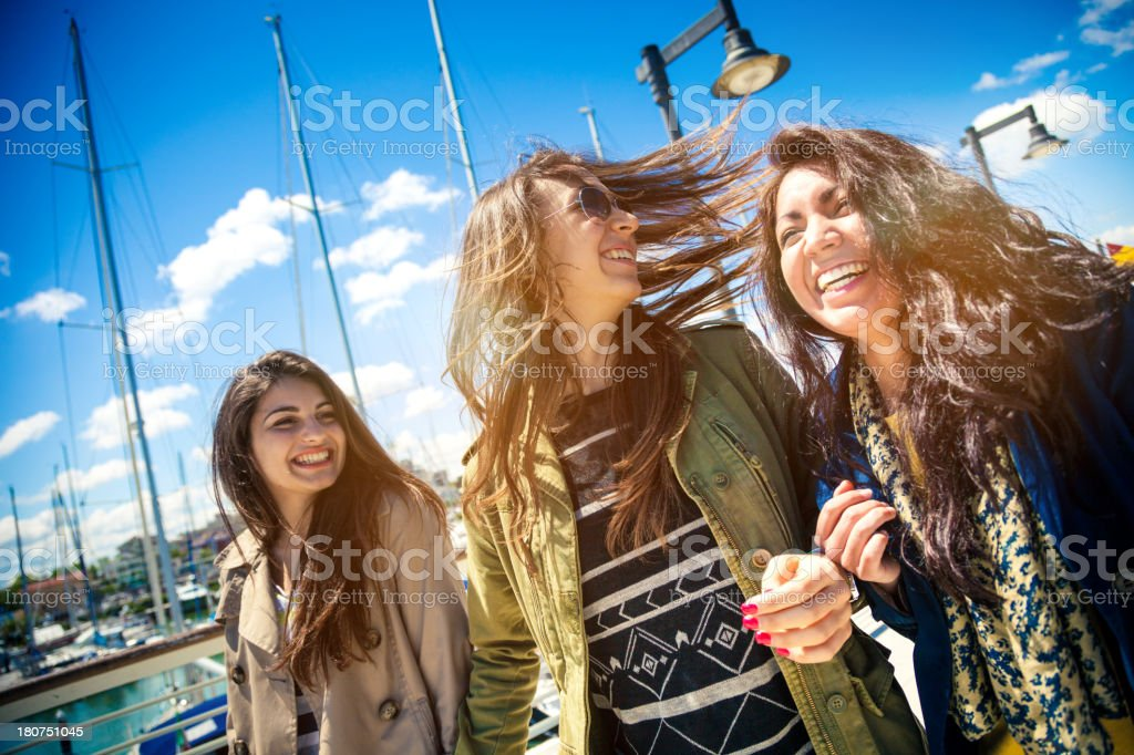 Group of happy female friends royalty-free stock photo