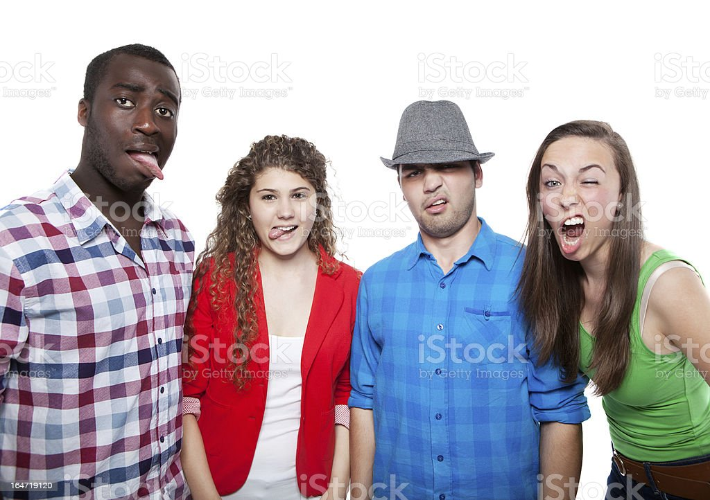 Group Of Happy Friends royalty-free stock photo