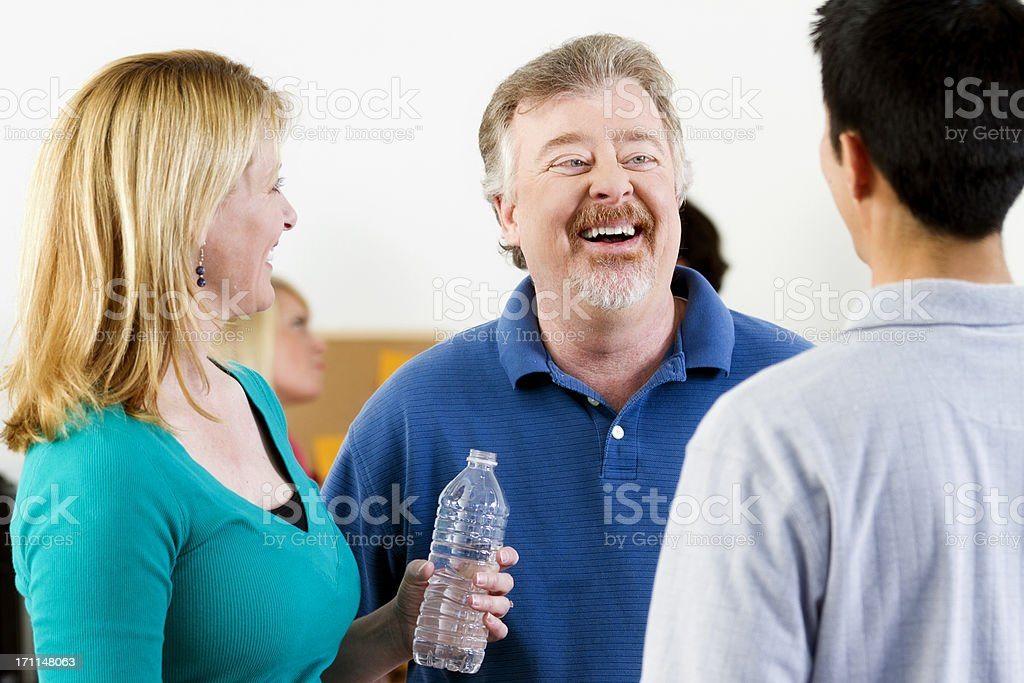 Group of Happy People Talking royalty-free stock photo