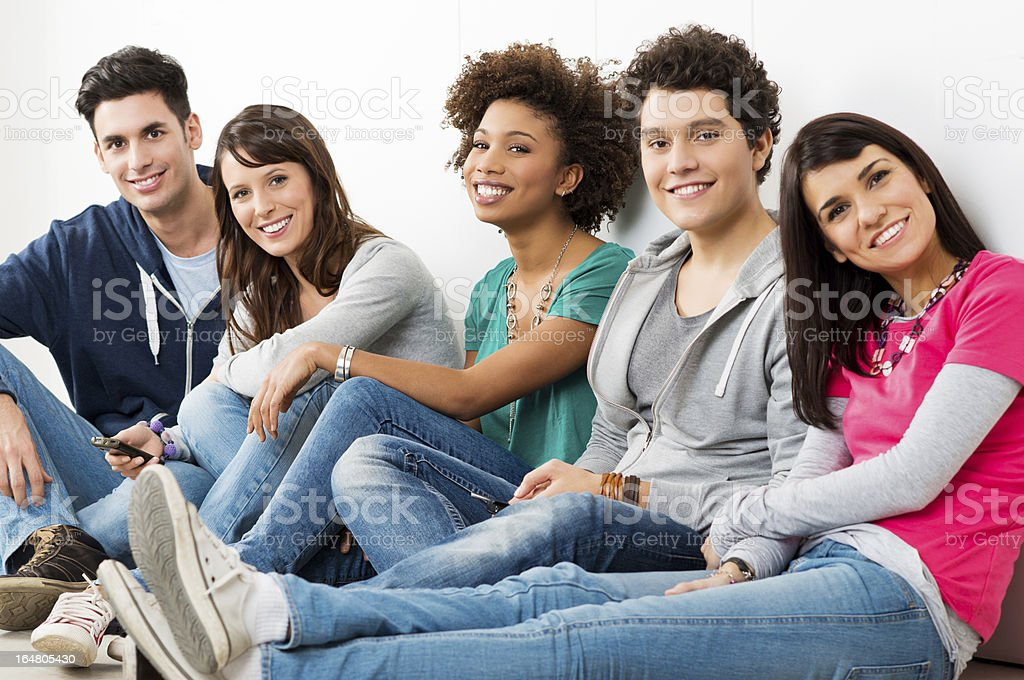 Group Of Happy Smiling Friends stock photo