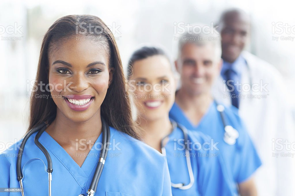 group of healthcare workers stock photo