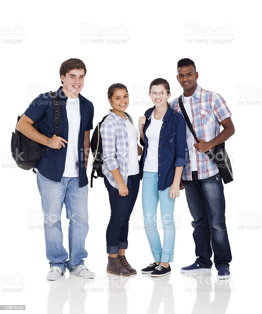 group of high school students royalty-free stock photo