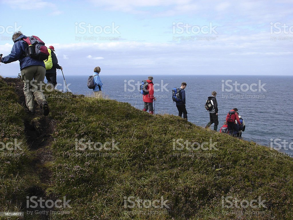 Group of Hikers stock photo