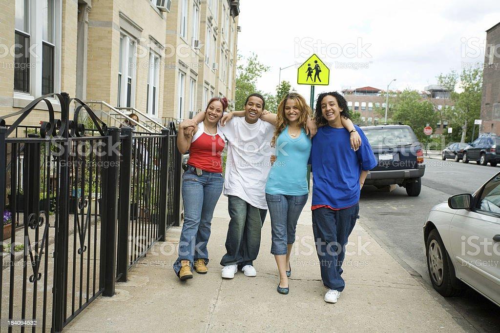Group of Hispanic teenagers royalty-free stock photo