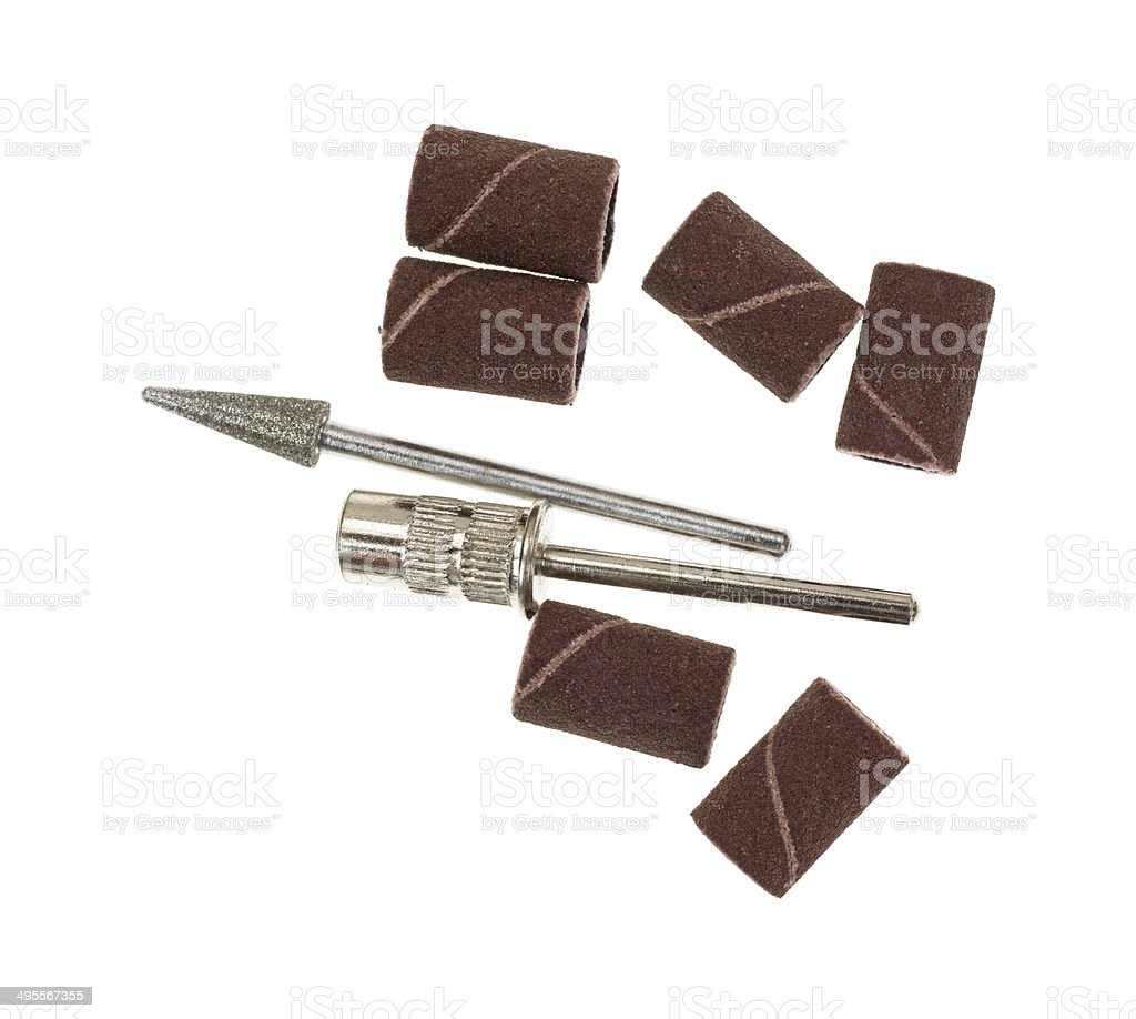 Group of hobby woodworking accessories stock photo