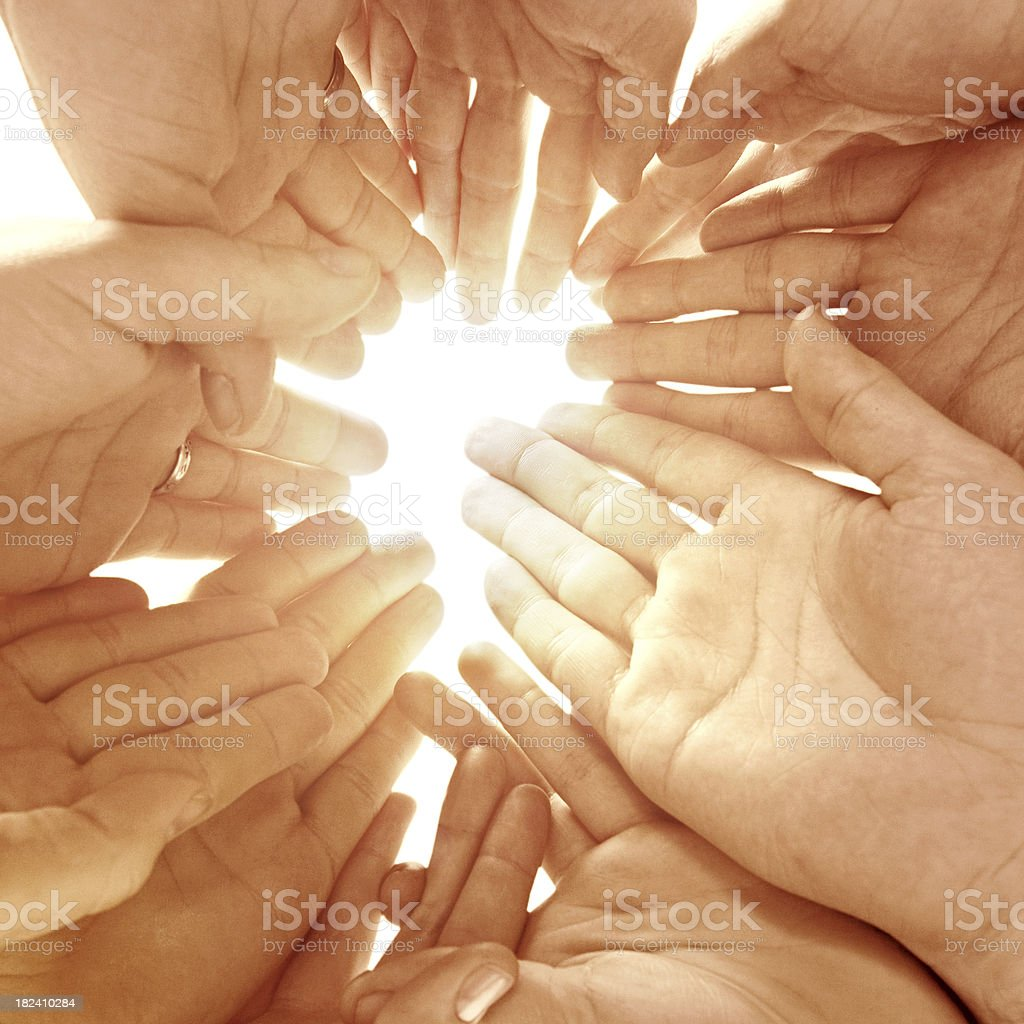 Group of human hands royalty-free stock photo