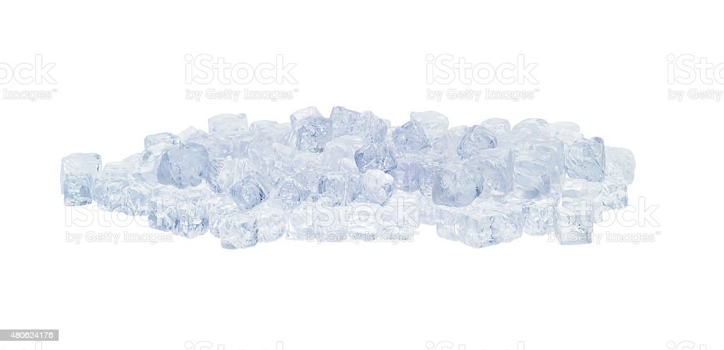 Group of ice cubes stock photo