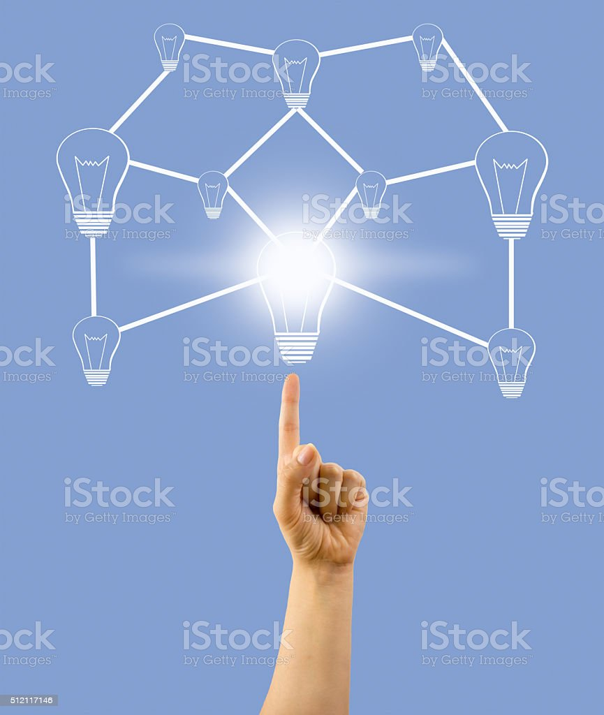 group of ideas in network stock photo