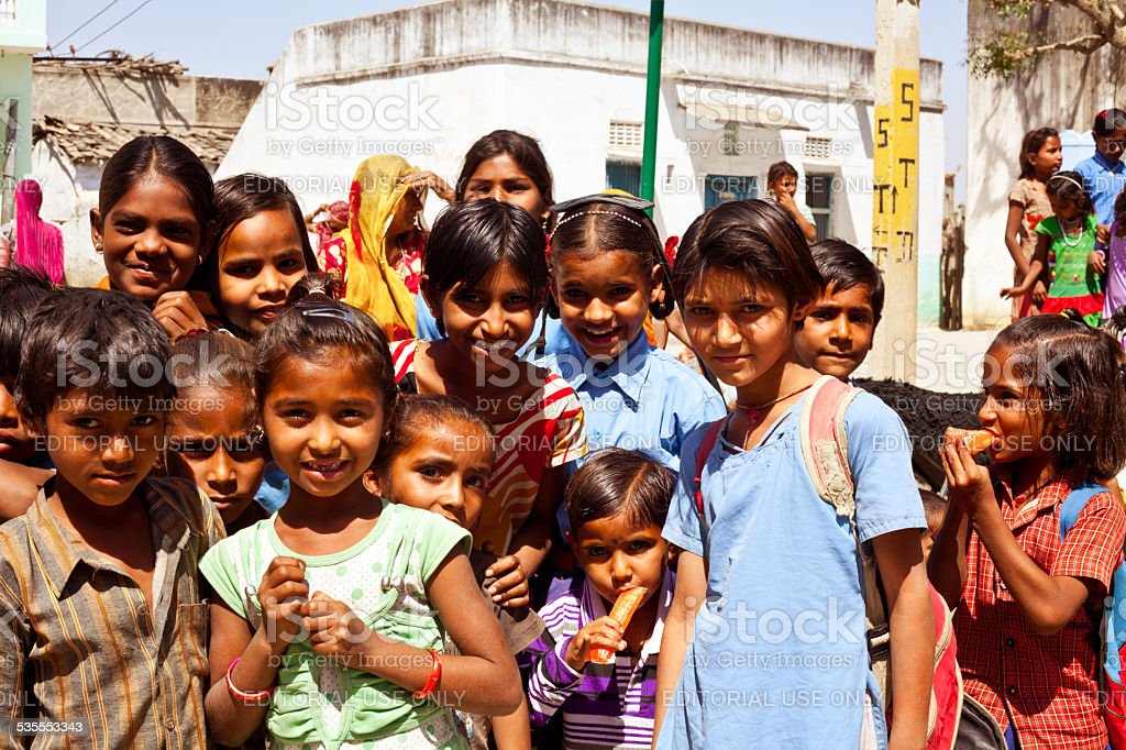 Group of Indian Children stock photo