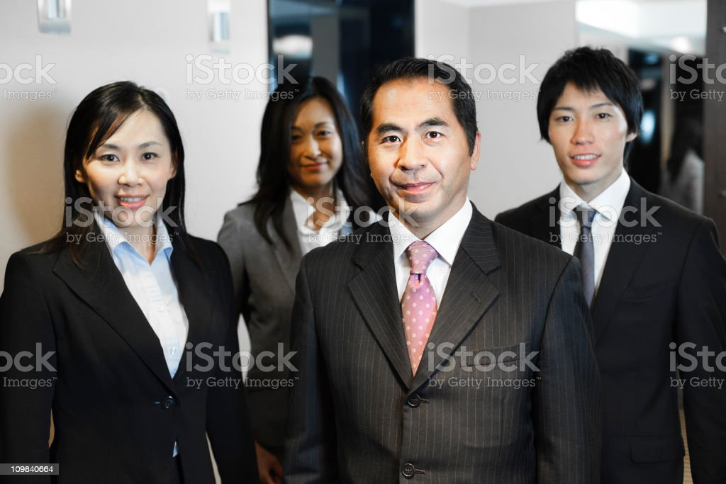 Group of Japanese Business People royalty-free stock photo