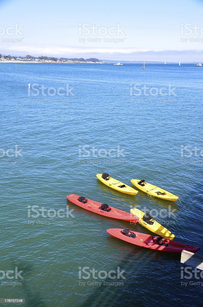 Group of kayaks royalty-free stock photo