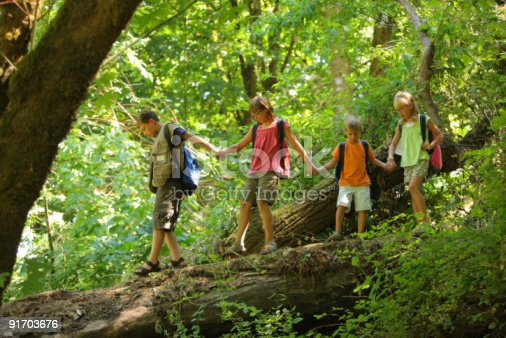 Студенты в лесу фото